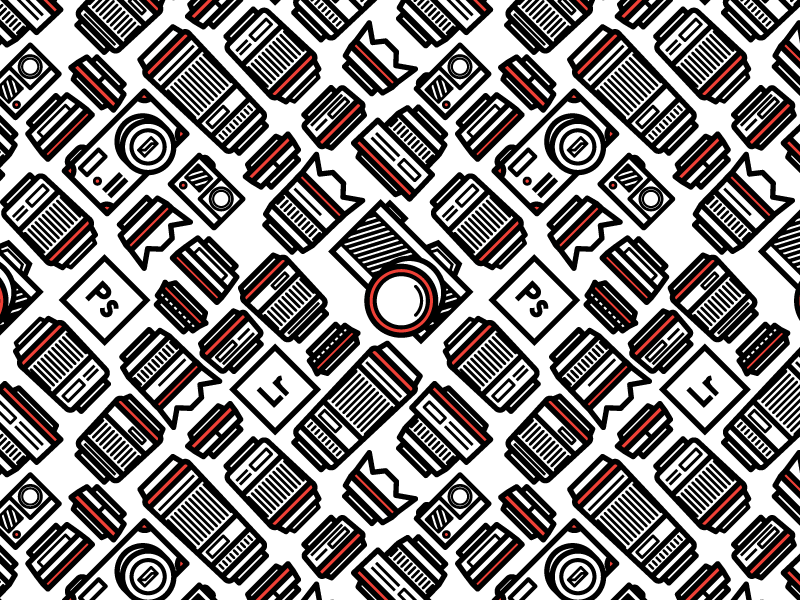 Photo Business Card II business card illustrator lens camera freelance pattern design vector photography