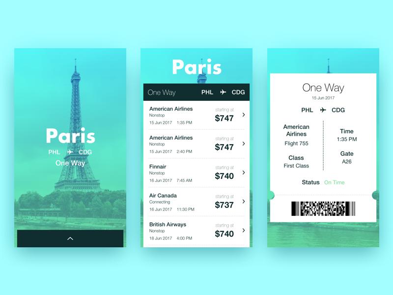 Paris Flight Search Results gradient france pass design app 068 dailyui airplane flight search paris