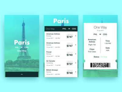 Paris Flight Search Results