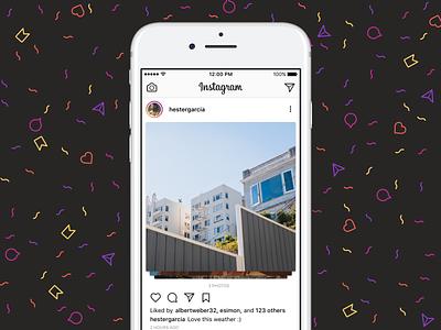 Instagram Image Slider details post app ui interface design ios image slider instagram swipe dailyui 072