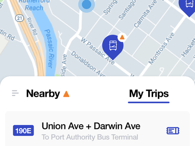 NJ Transit Home Concept interface ui gif mobile dailyui ios animation design framer maps transportation nj transit