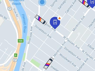 NJ Transit Station Info ux concept prototype principle design alert transportation map ui animation nj transit gif