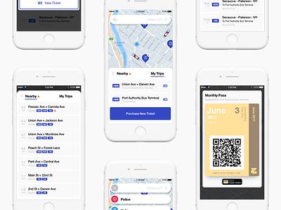 NJ Transit Sketch Freebie sketch transportation concept ios mobile app design ux ui nj transit