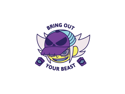 Bring Out Your Beast cartoon trace illustration vector design illustrator
