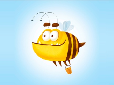 Honey illustrator draw design cartoon character casual casual game 2d art cartoon color illustration character bumblebee honeybee honey