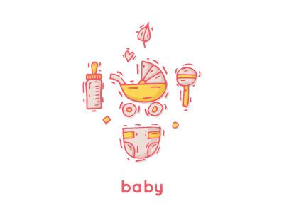 Baby childhood invitation shower birthday happy girl vector cute kid child boy baby