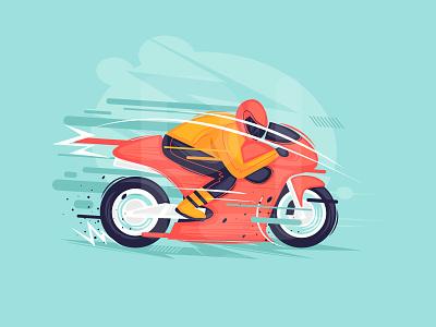 Motor Racing sport modern draw illustrator motor racing speed color design illustration flat