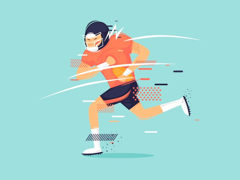 Rugby vector art graphic color cartoon characterdesign modern design speed ball game sportsman muscle competition vector illustrator character illustration flat sport rugby