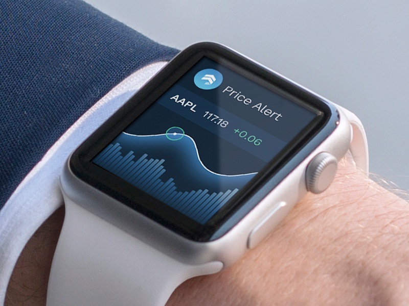 Sentieo App for Apple Watch apple watch wearable alert price research graph stock apple watch