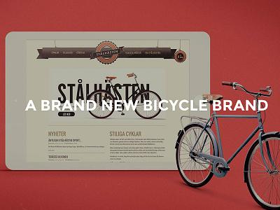 Stålhästen webdesign presentation bicycle