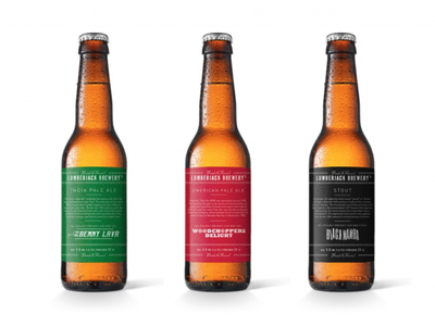 Beer label concept for Lumberjack brewery beer