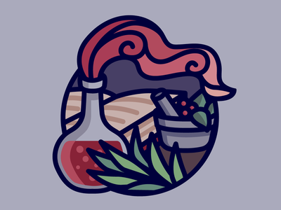 Herbalism dungeons and dragons potion vector art fantasy