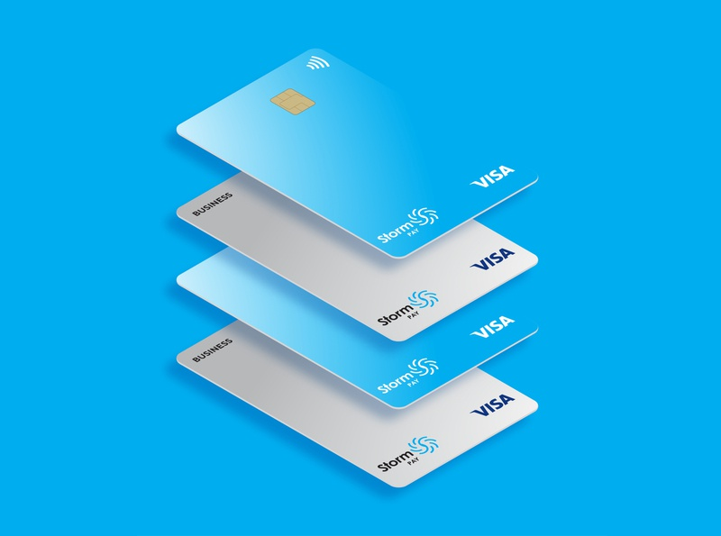 StormPay Card Design vector illustration packaging identity designer logo branding design uzbekistan tashkent