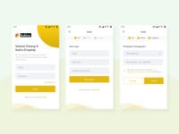Sign In & Sign Up - Mobile App Design Inspiration
