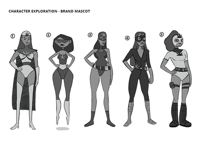 AskMaryJ Character Exploration - Rough