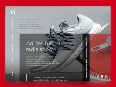 Meansync freebie principle animation about store adidas portfolio case shoes sneakers