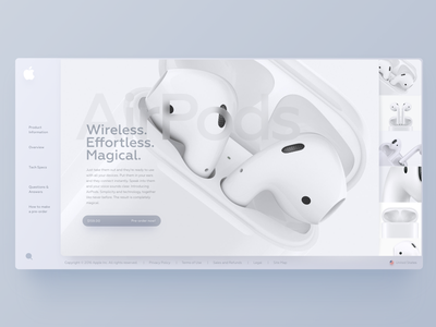 New AirPods   Figma file free .fig download free figma gray white air dashboard psd sketch freebie apple airpods