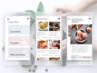 The app for of some cafe booking cafe menue card delishes basket
