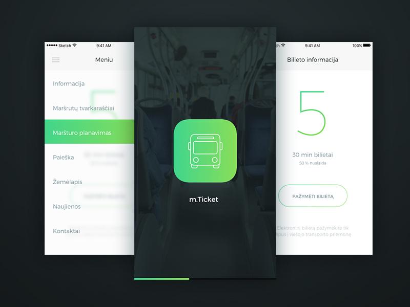 mTicket redesign redesign ios ui ux app