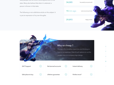 Game landing page webdesign clean simple ui page landing