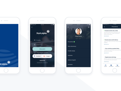 iOS app design clean simple design app ios
