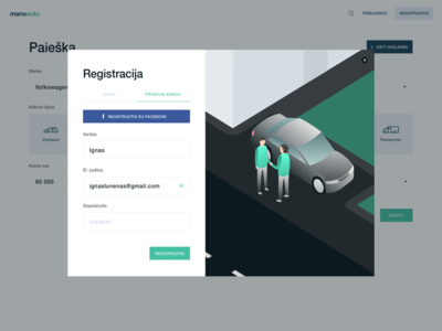 Sign up isometric illustration page landing up sign ui