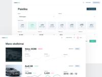 Car dealers website simple minimal icons auto detailed graph web white ux ui car