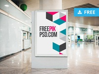 Free airport poster mockup lounge design poster design freelance graphicdesign template mockup template graphicghost public download traveling travel tourism display mock-up mockup poster airport freebie free