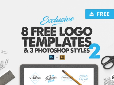 8 free logo templates 2 logofolio inspiration logoset creation download psd download graphics logotype freelance illustrator ai psd styles photoshop logodesign templates logos logo freebie free