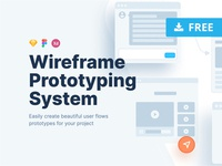 Wireframe Prototyping System design uxdesign user experience ux ui tool user flow system prototyping wireframe templates adobe xd sketchapp framer sketch template freebie free download