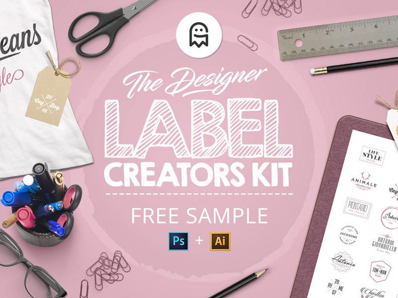 The Designer Label Creators Kit - Free Sample freebie free sample download labels logos creator creation tool templates generator graphicghost