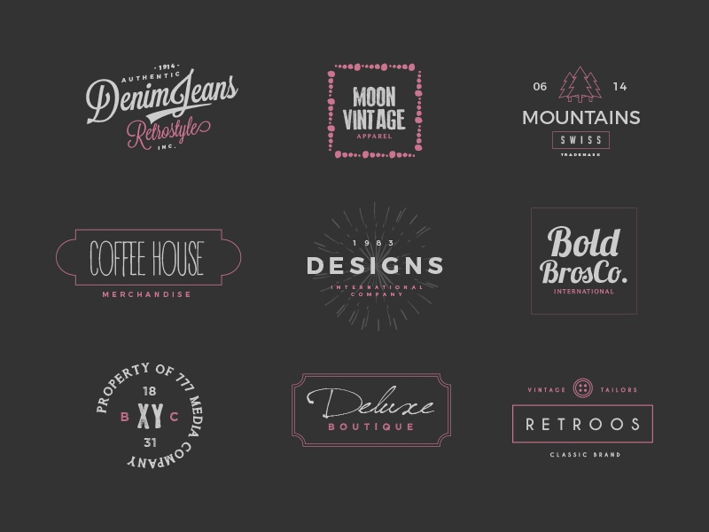 The Designer Label Creators Kit – Logo Templates