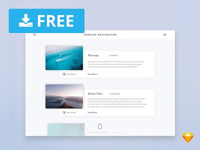 Popular Destination UI Card for Sketch graphicghost list download design interface webdesign ui homepage website freebie sketch free