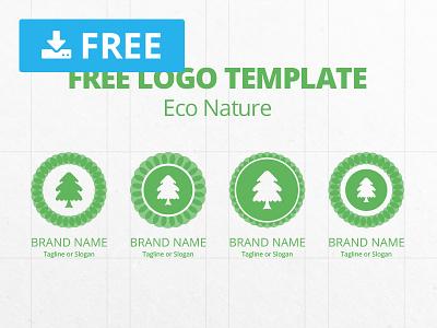 Free Logo Template Eco Nature basaridesign free freebie vector design download green mockup business branding brand graphicghost