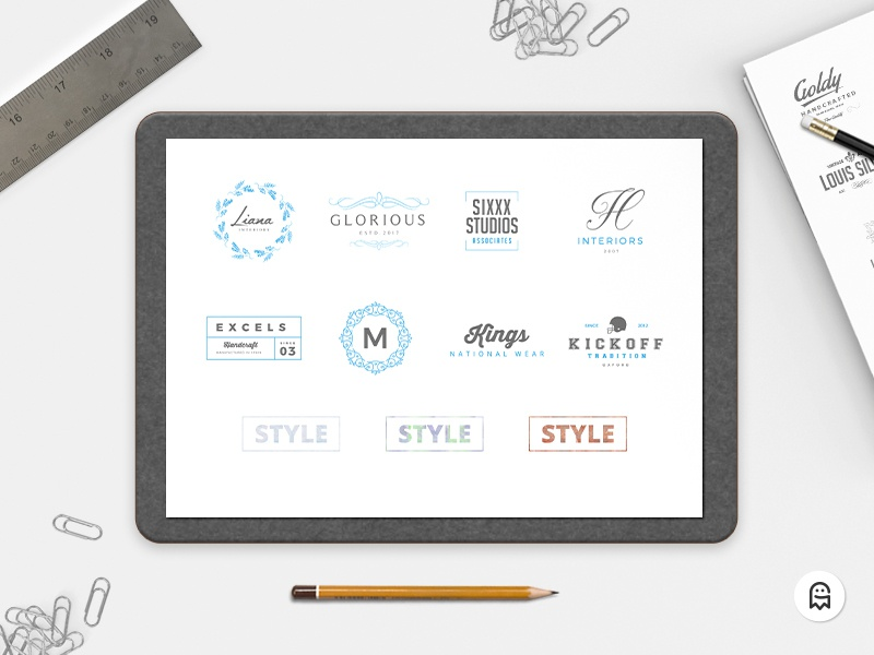 8 Free Logo Templates & 3 Photoshop Styles