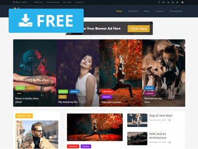 Magazina – WordPress Magazine Theme mobile desktop blog ui website freebie download free template theme magazine wordpress