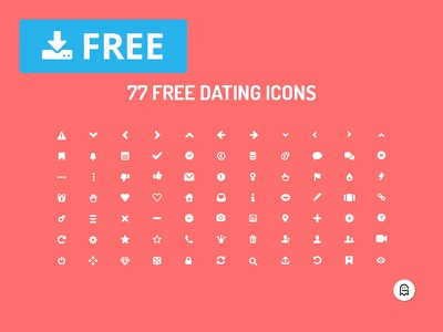 77 Free Dating Icons ux uiux ui icon design icons design symbols graphicghost vector icons set icons dating freebie free download