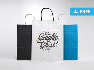 Free Paper Bag Mockup freebies ghost graphic graphicghost shopping download custom showcase shopping bag shop bag template mock-up mockup free freebie