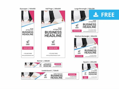 Business Banner Sea Ad Templates header content skyscraper adwords display ads ad advertising campaign photoshop psd web website ux design ui template freebie free download