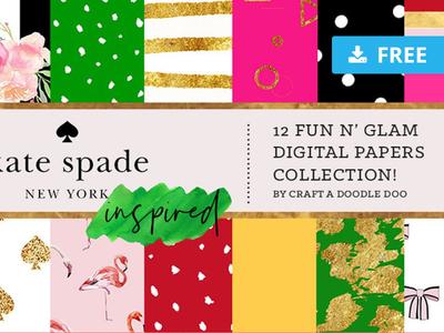Kate Spade Inspired Digital Prints