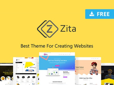 Zita - Free Wordpress Theme mobile desktop dev develop developer graphicghost blogger blog ux webdesign website web cms wp wordpress design ui freebie free download