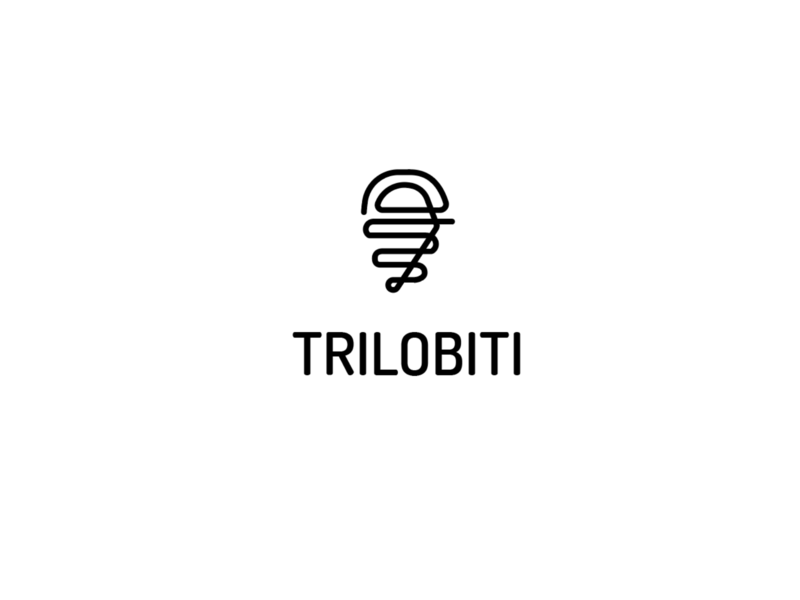 Trilobite debut vector design logo