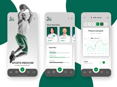 Ukrainian Sports Clinic app #1 medicine app clinic sports app design ux application design branding