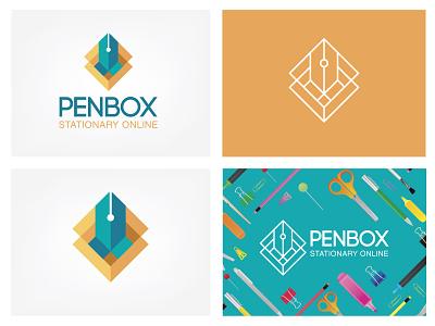 Penbox logo shop logo penbox logo stationary