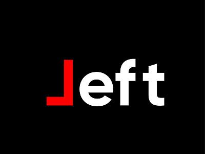Typography concept of Left logo ecommerce websites psd vector visualise fibonacci stationary identity illustration graphics branding logo