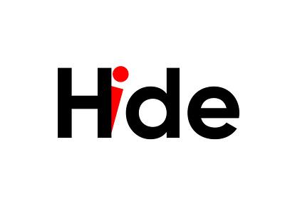 Typography concept of Hide logo creative design visual vector logotype illustration stationary identity branding graphics