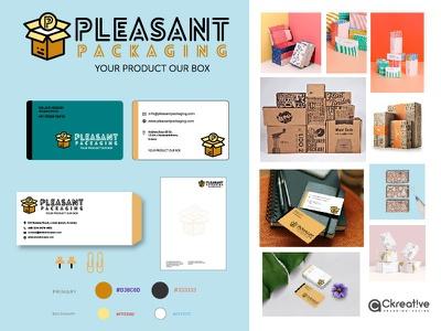Branding and Packaging Concept - Pleasant Packagin box mockup design graphics custom identity logo packaging