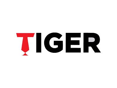Typography concept of Tiger logo ecommerce websites psd vector visualise fibonacci stationary identity illustration graphics branding logo