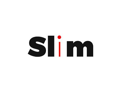 Typography concept of Slim logo ecommerce websites psd vector visualise fibonacci stationary identity illustration graphics branding logo