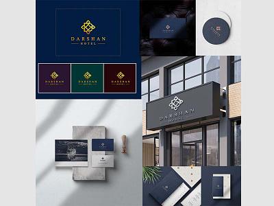 Branding & Packaging Design - Hotel Darshan ecommerce websites psd vector visualise fibonacci stationary identity illustration graphics branding logo
